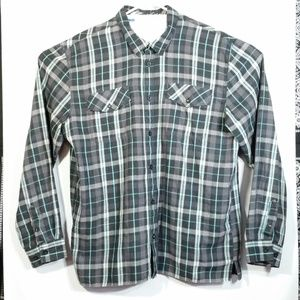 L/S Plaid Button Up Shirt Double Breast Pocket EUC